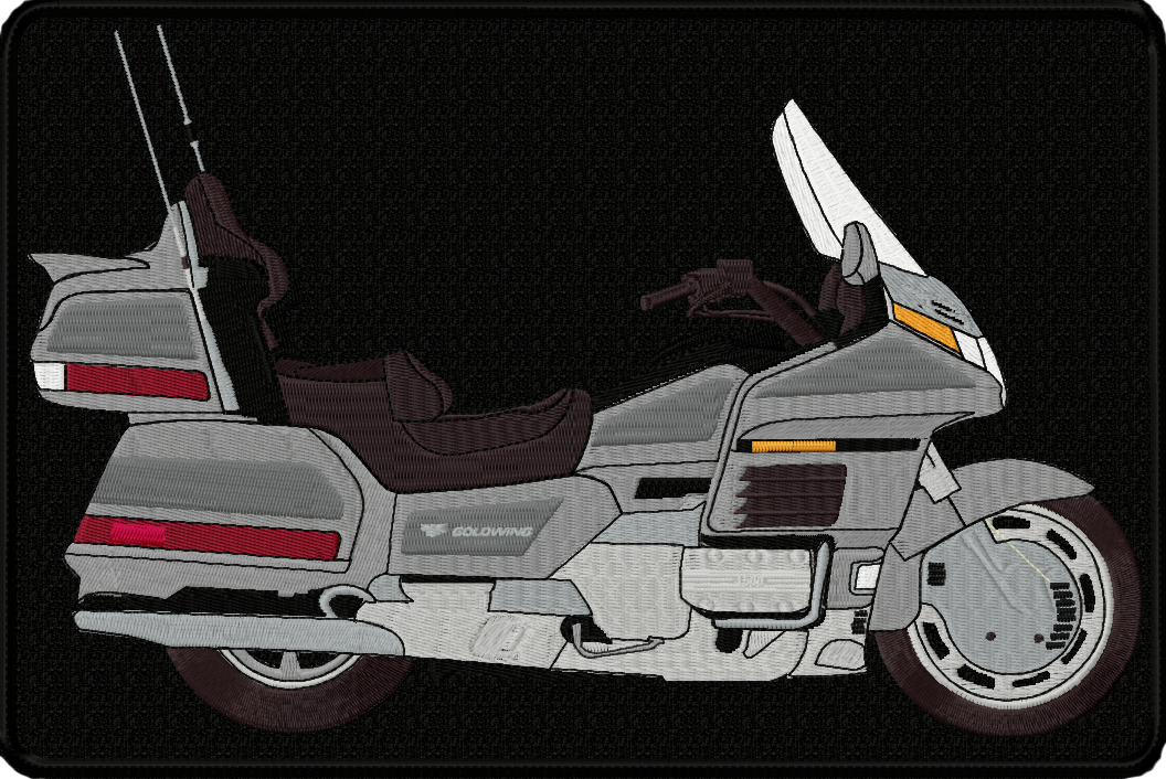 Gl1500 Embroidered Goldwing Back Patch