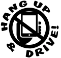 Hang Up and Drive Decal picture