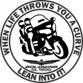 lean into it decal picture