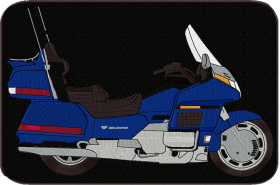 Blue GL1500 Back Patch