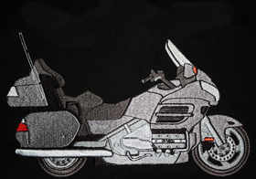 Embroidered goldwing shirt