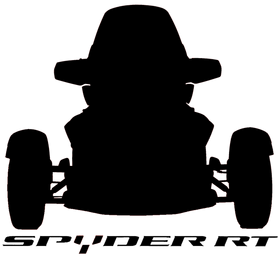 Can-Am Spyder RT Silhouette Decal Picture
