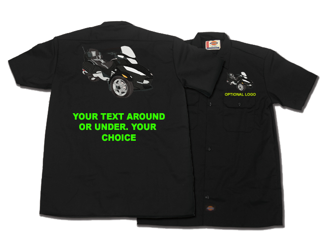 GL1800 Too Far Too Fast With Riders Dickies style workshirt ...